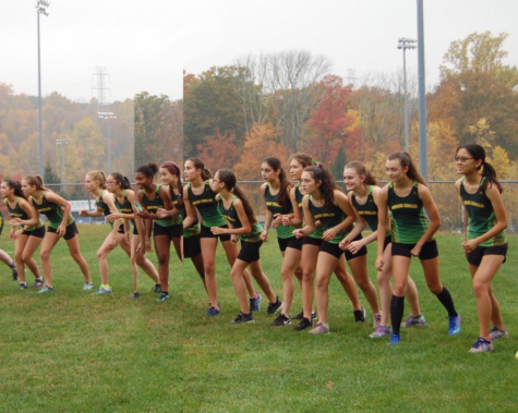 MK Girls Cross Country team at Freedom Park in Randolph